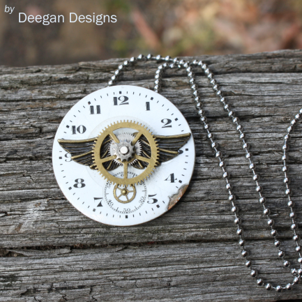 DD291 Antique Enamel Watch Face