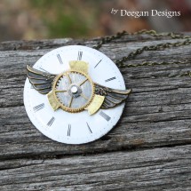 DD293 Antique Enamel Watch Face