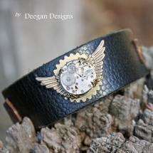 DD303 Watch Movement Leather Cuff